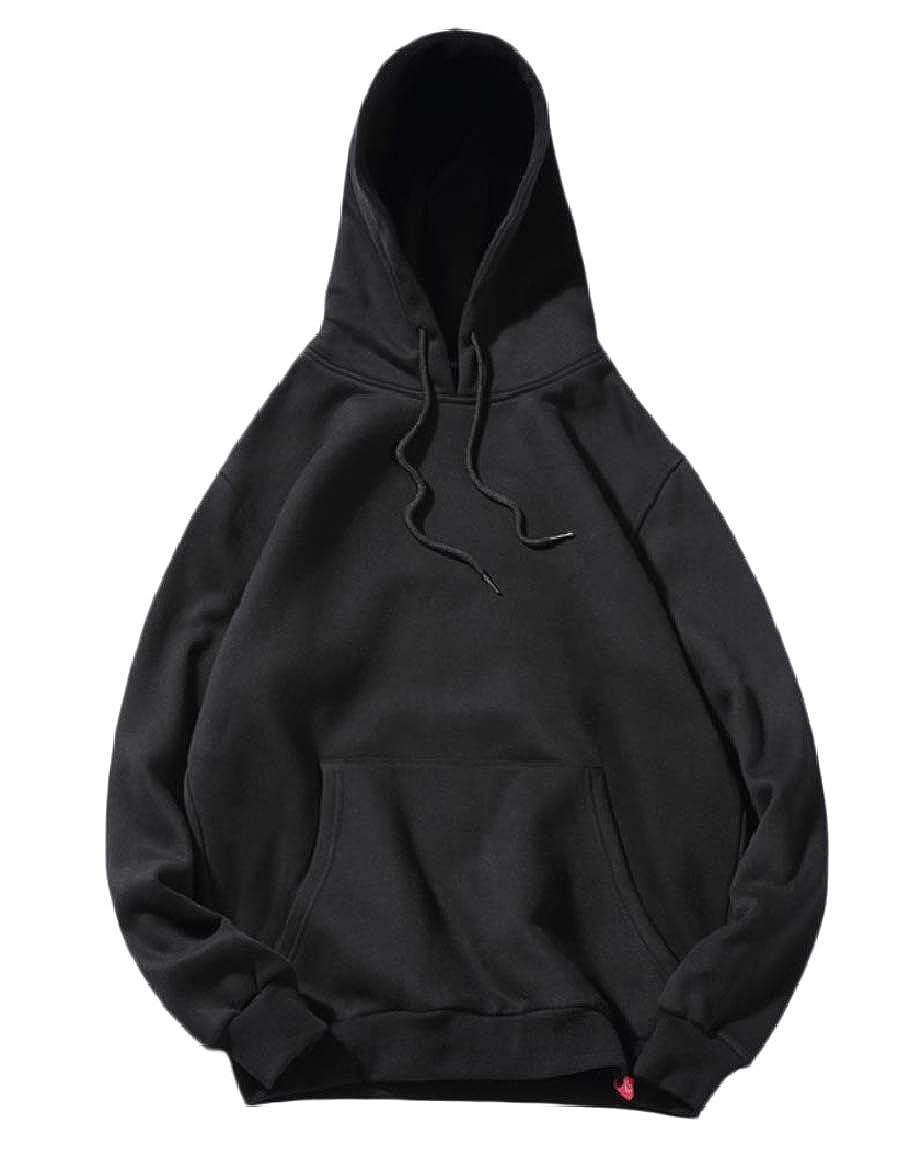 RDHOPE-Men Pocket Big and Tall Casual Hooded Fleece Sweatshirts