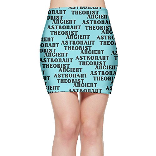 SKIRTS WWE Ancient Astronaut theorist Womens Package Hip High Waist Mini Short Skirt by SKIRTS WWE