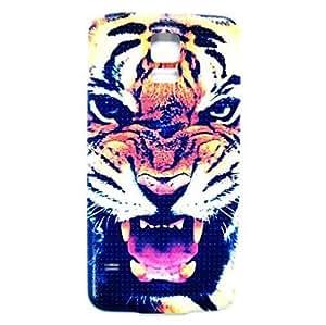 TY-Patrón de tigre animales delgada cubierta de la caja dura para i9600 samsung galaxy s5
