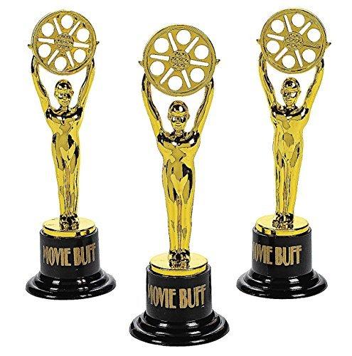 Fun Express Movie Buff Gold Trophies (1 dz) -
