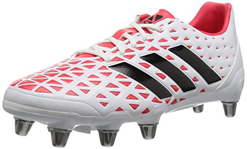 (adidas Kakari Elite SG Soft Ground Mens Rugby Boot Shoe White/Red - US 9.5)