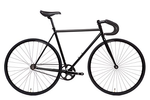 State Bicycle 6.0 Fixed Gear/Single Speed Bike Drop Bar, Matte Black, 49cm/X-Small
