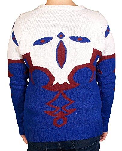 Shikha London-Sudadera para mujer magnífica caliente, diseño de Navidad, color azul y rojo Azul
