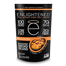 Enlightened - The Good for You Crisp Roasted Broad Beans, Mesquite BBQ, 3.5 Ounce