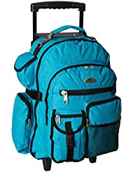 Everest Deluxe Wheeled Backpack, Turquoise, One Size