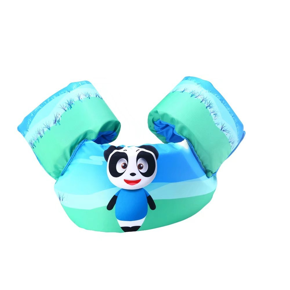 Katedy Kids Puddle Jumper Basic Life Jacket Learn To Swim Aid For Beginners Portable Child Lifejacket Buoyancy Vest Cute Animals Cartoon Child Floating Suit Bear Swimming Boating Watersports