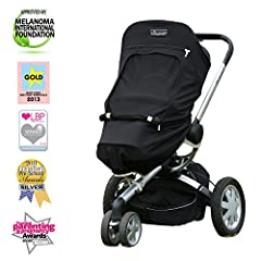 Invented by a British mom (moms always know best) this award-winning uv stroller cover provides high quality sun protection and help babies sleep.The Plus is a high quality super-safe sunshade for strollers that blocks up to 99% of UV and kee...