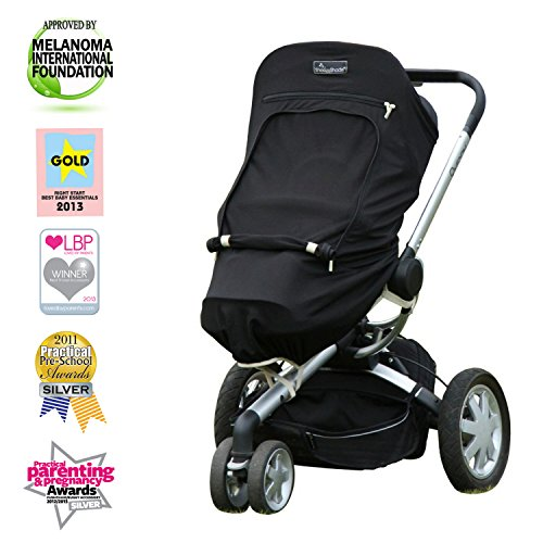 Stroller Sunshade - SnoozeShade Plus 5-in-1 Universal Stroller UV Cover/Baby Sunshade Blocks 99% UV