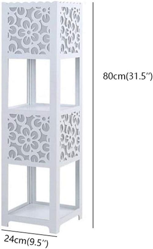 Kiter Lámpara de pie E27 Lámpara de pie Lámpara de pie Tallada Creativa Moderna con Estante de Almacenamiento Decoración Lámparas de pie Dormitorio Sala de Estar Mesita de Noche Salon (Color :