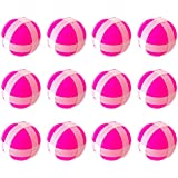Silfrae Target Game Safety Fabric Dart Board Set with 2 Darts and 2 Balls for Boy and Girls (Pink x 12, Ball)