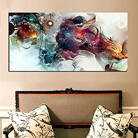 DIY Pintura Diamante 5D Kit Grande Cuadro Dragón retro abstracto Completo Diamond Painting Adultos Niño Cristal Rhinestone Puzzle Punto Cruz Bordado Art Home Pared Decor R369 Square Drill,70x140cm