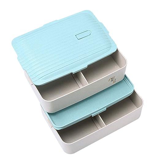 Caja de almuerzo caja de bento paja de trigo sin BPA sandwich ...