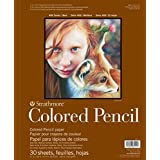 """Strathmore Colored Pencil Spiral Paper Pad 9"""" x 12"""", 30 Sheets"""