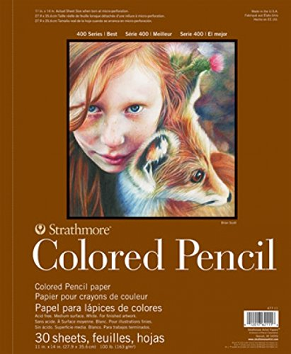 amazon com strathmore 400 series colored pencil pad 9 x12 wire