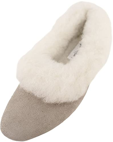 Lambland Ladies Sheepskin Suede and Lambswool Grecian Style Slipper