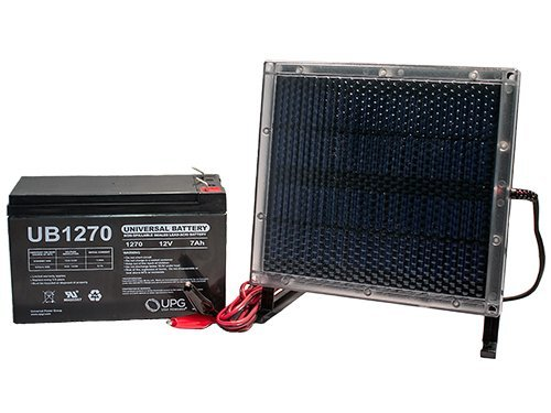 Universal Power Group UB1270 12V 7AH Battery for Liftmaster CSL-24VDC + 12V Solar Panel Charger by Universal Power Group