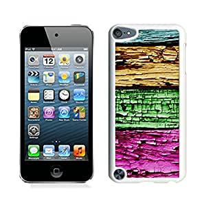 Patten mobile phone,Colorized Wood Texture Design ipod touch 5 case white cover