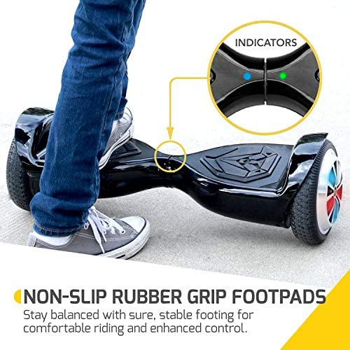 TopGain Hoverboard All Terrain Bluetooth Self Balancing Hoverboard Electric Scoter with Bluetooth and Lights for Kids and Adult Ul2272 Certified