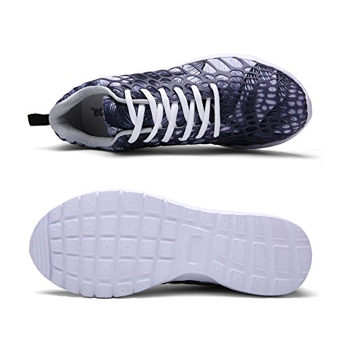 de REBEST Gris Running Mujer de Sintético Zapatillas para Material v1q1U5n