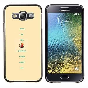 Divertido P0kemon- Metal de aluminio y de plástico duro Caja del teléfono - Negro - Samsung Galaxy E5 / SM-E500