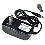 FAVOLCANO DC 12V 2A 2.0A Switching Power Supply Adapter for 110V - 240V AC 50/60Hz 2.1mm (1-Pack)