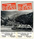 Smoky Mountain Tours Brochure 1930's Great Smoky Mountains National Park