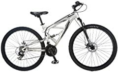 The Mongoose Impasse is the ultimate 29er at an affordable price. Equipped with an aluminum full-suspension frame, this trail-capable bike offers a smooth and controlled ride featuring an Element front fork, Shimano gearing, SRAM twist shifte...
