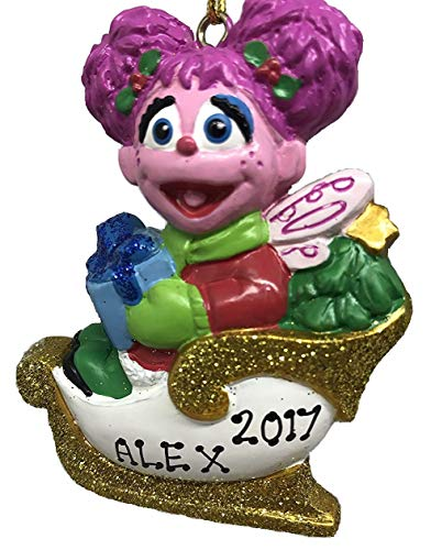 Kurt Adler Personalized Sesame Street Abby Christmas Ornament 2018 Free Personalization (Sesame Street Christmas Ornaments)
