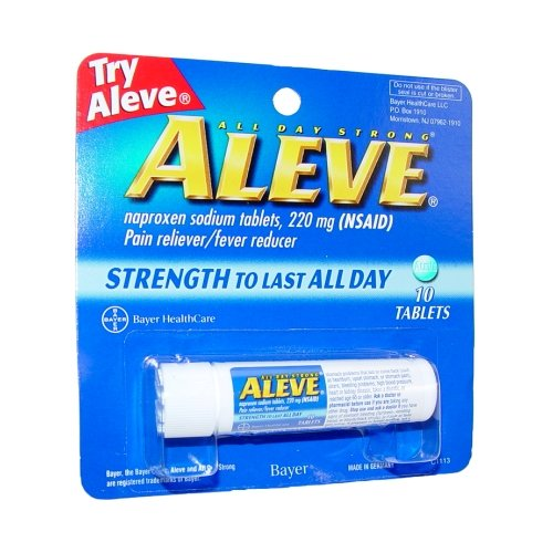 Aleve 10's Vial Tablet (Pack of 12) (Aleve Cold Medicine)