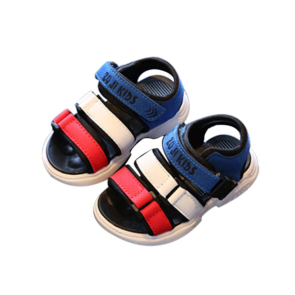 EsTong Boy's Girl's Outdoor Sandals Breathable Sport Summer Beach Shoes (Toddler/Little Kid/Big Kid) Blue 8.5M/9M US Toddler
