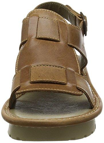 Fly London Kani - Sandalias de vestir de cuero para mujer marrón - marrón (camel)