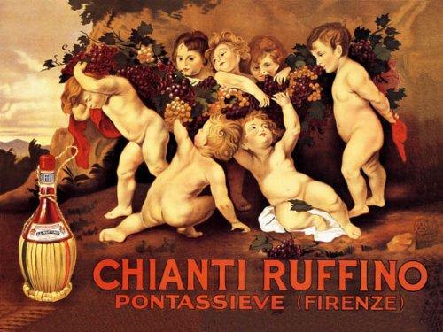 CHIANTI RUFFINO PONTASSIEVE FLORENCE ITALY LITTLE BOYS GRAPE BUNCH ITALIAN WINE 16
