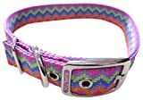 Hamilton Double Thick Nylon Deluxe Dog Collar, 1-Inch by 26-Inch, Weave Multi-Pattern, Lavender, My Pet Supplies