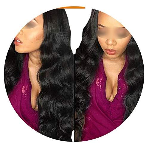 Brazilian Body Wave Hair Bundles 100% Human Hair Bundles 1/3/4 Brazilian Hair Weave Bundles Non Remy,22inches]()