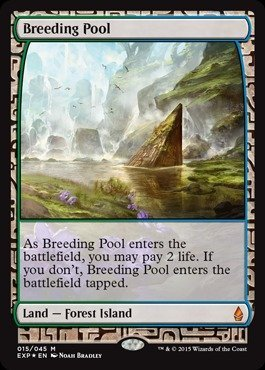 Magic: the Gathering - Breeding Pool (015/045) - Expedition Lands - Foil by Magic: the Gathering