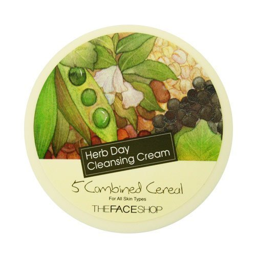 The Face Shop Herb Day Cleansing Cream 5Combined Cereal - Herb Shop Face