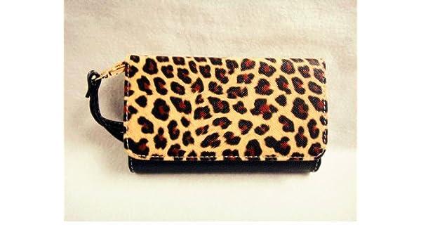 Piel de leopardo Funda de piel tipo cartera Monedero smart-phone True Color de embrague tipo cartera funda de piel Para Samsung funda para teléfono móvil 2: ...