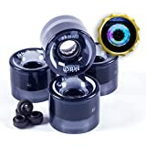 Skitch Midnight Magic LED Light-Up Skateboard Wheels – Premium Multi Color Illuminating Wheels Made For All Skateboards, Mini Cruiser Boards and Longboards – No Batteries Required