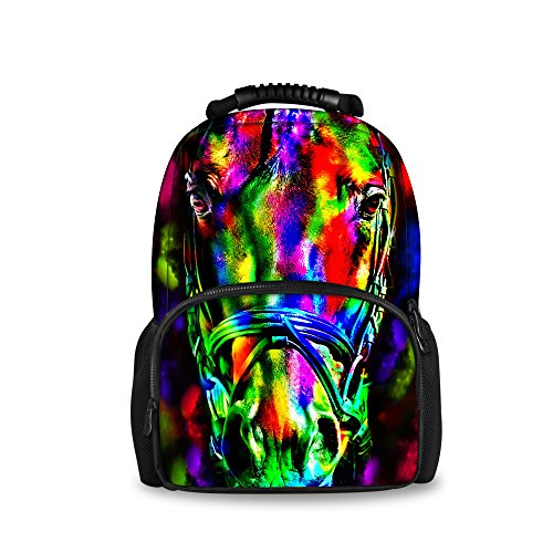 Felt Bag Casual Weekend ThiKin animal8 School for Trip Animal Stylish Black Bookbags Laptop Backpacks Wild Print Students Hiking Double zipped Daypacks Backpack Polyester Casual College Travelling BI6IxqZr