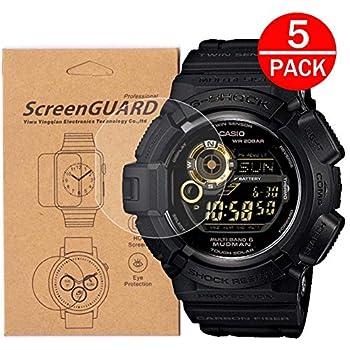 [5-Pack] for Casio GW-9300/G-9300/G9300GB-1 Watch Screen Protector, Full  Coverage Screen Protector for Casio GW-9300/G-9300 Watch HD Clear  Anti-Bubble