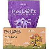 PETLOFT Poop Bag, 600-Count Lemon-Scented Durable Biodegradable Dog Waste Bag Poop Bag in Tissue Dispensing Format - Purple (Lemon-Scented)