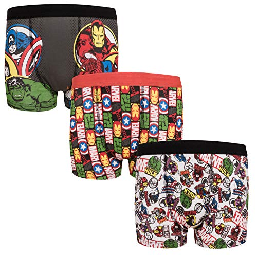 Marvel Avengers Assemble Official Gift 3 Pack Boys Boxer Shorts 11-12 Years
