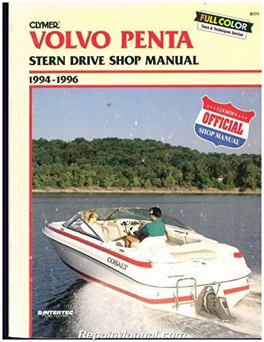 B771 Used Clymer 1994-1996 Volvo Penta Stern Drive Boat Engine Repair Manual