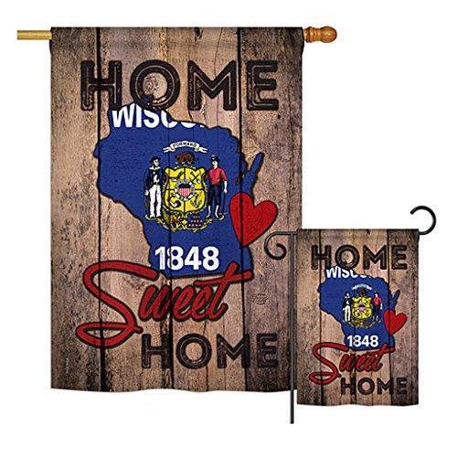 Ornament Collection S191133-BO State Wisconsin Home Sweet Home Americana States Impressions Decorative Vertical House 28
