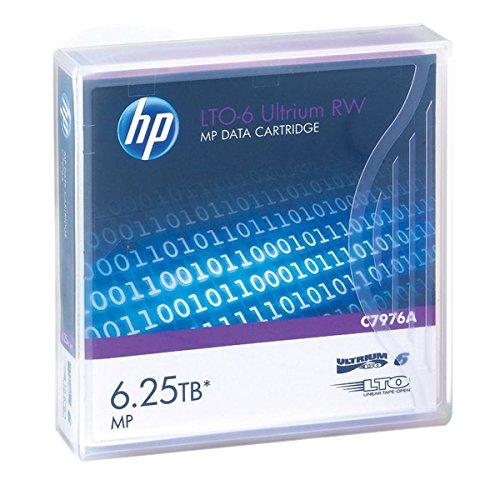 20 Pack- HP C7976A LTO-6 Tapes 2.5TB/ 63TB , Part # C79765A