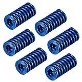 Compression Springs 6Pack 12mm OD 20mm Long Spiral Stamping Light Load Compression Mould Die Spring Blue