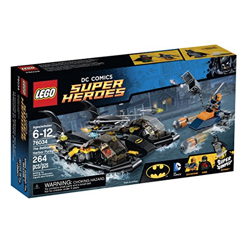 LEGO Super Heroes 76034 The Batboat Harbor Pursuit Building Kit