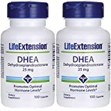 Life Extension DHEA, 25 Mg, 100 capsules Pack of 2