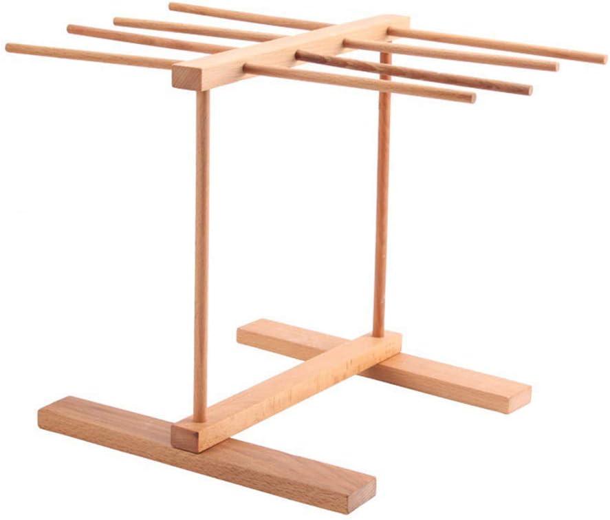 BB&ONE - Escurridor de Pasta Plegable de Madera, 8 estantes Plegables para Colgar en el hogar, para secar Fideos, fácil de Instalar (marrón): Amazon.es: Hogar