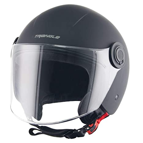 Amazon.com: Triangle Helmets - Casco de moto con visera, XL ...